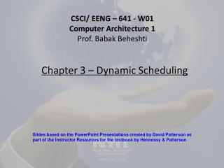 Chapter 3 – Dynamic Scheduling
