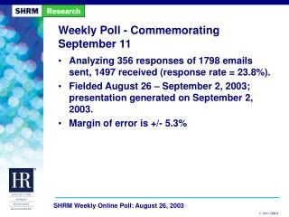 Weekly Poll - Commemorating September 11