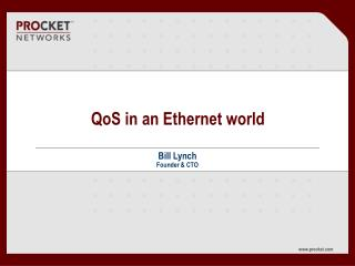 QoS in an Ethernet world