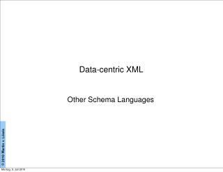 Data-centric XML