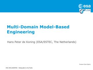 Multi-Domain Model-Based Engineering