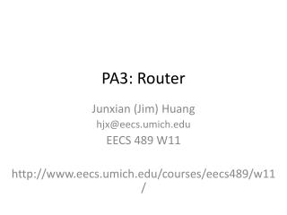 PA3: Router