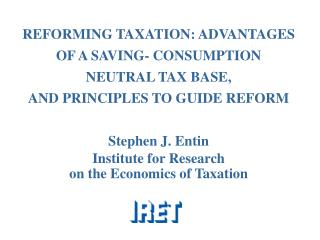 Objectives of Tax Reform