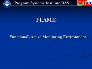 FLAME FunctionaL Active Monitoring Environment