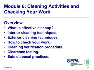 Module 6: Cleaning Activities and Checking Your Work