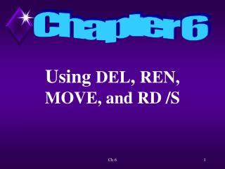 Using  DEL ,  REN,  MOVE, and RD /S