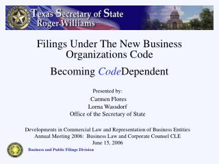 Business and Public Filings Division