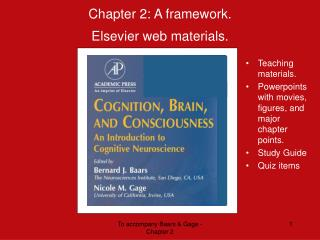 Chapter 2: A framework.  Elsevier web materials.