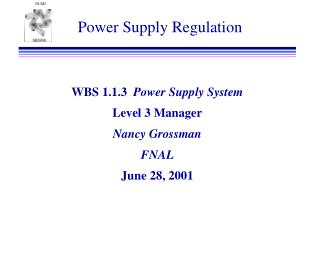 Power Supply Regulation