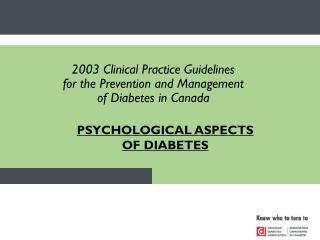 PSYCHOLOGICAL ASPECTS OF DIABETES