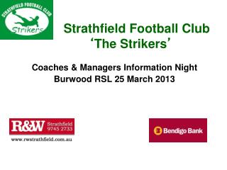 Strathfield Football Club ' The Strikers '