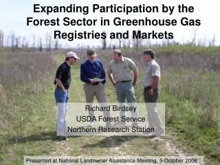 Expanding Participation by the Forest Sector in Greenhouse Gas Registries and Markets