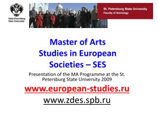 Master of Arts Studies in European Societies – SES