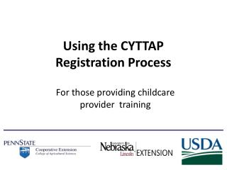 Using the CYTTAP      Registration Process
