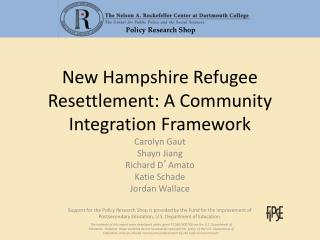 New Hampshire Refugee Resettlement: A Community Integration Framework