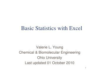 Basic Statistics with Excel