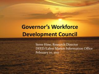 Governor's Workforce Development Council