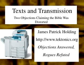 Texts and Transmission