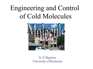 Engineering and Control  of Cold Molecules