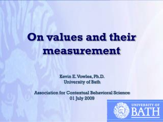 On values and their measurement