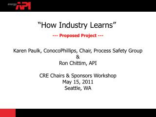 """How Industry Learns"" --- Proposed Project ---"