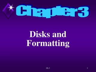 Disks and Formatting