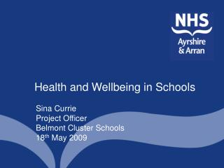 Health and Wellbeing in Schools