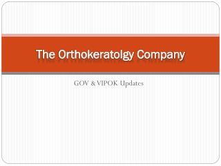 The Orthokeratolgy Company