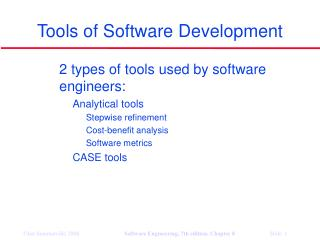 Tools of Software Development
