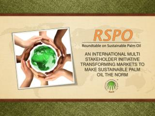 AN INTERNATIONAL MULTI STAKEHOLDER INITIATIVE  TRANSFORMING MARKETS TO MAKE SUSTAINABLE PALM