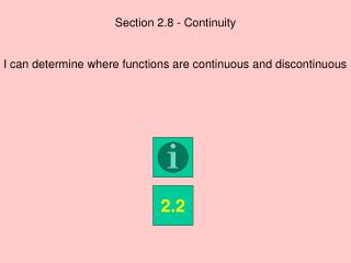 Section 2.8 - Continuity