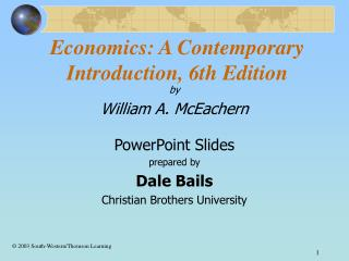 Economics: A Contemporary Introduction, 6th Edition