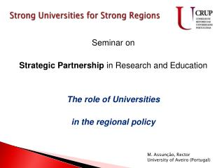 Strong Universities  for  Strong Regions