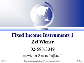 Fixed Income Instruments 1