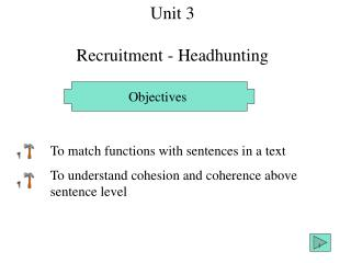 Unit 3 Recruitment - Headhunting