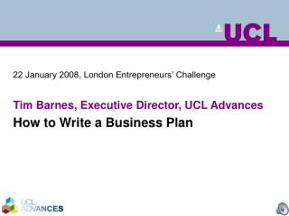 22 January 2008, London Entrepreneurs' Challenge