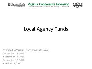 Local Agency Funds