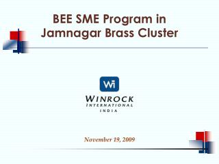 BEE SME Program in  Jamnagar Brass Cluster