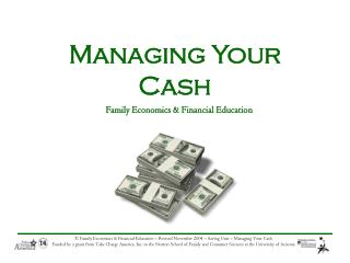 Managing Your Cash