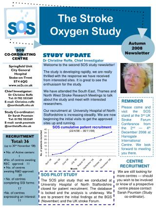 Welcome to the second SOS study newsletter!