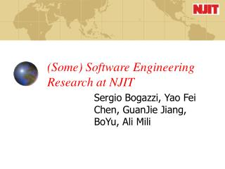(Some) Software Engineering Research at NJIT