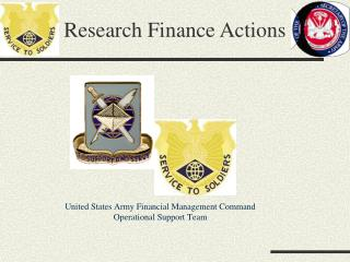 United States Army Financial Management Command Operational Support Team