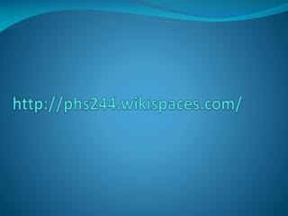 phs244.wikispaces/