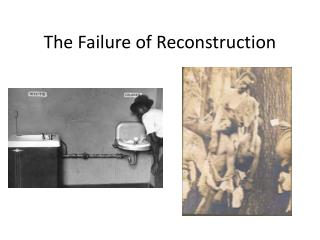 The Failure of Reconstruction