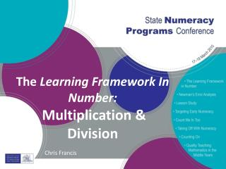The  Learning Framework In Number: Multiplication & Division