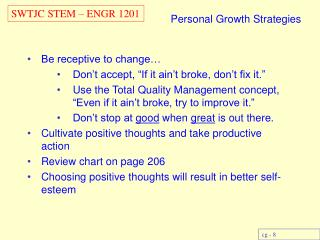 Personal Growth Strategies