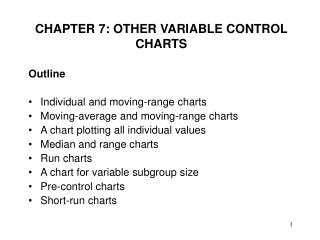 CHAPTER 7: OTHER VARIABLE CONTROL CHARTS