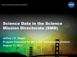 Science Data in the Science Mission Directorate (SMD)