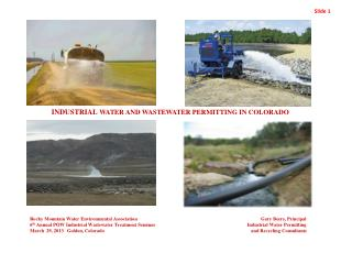 INDUSTRIAL  WATER AND WASTEWATER PERMITTING IN COLORADO