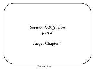 Section 4: Diffusion part 2